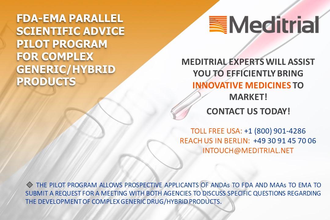 FDA EMA parallel scientific advice pilot program